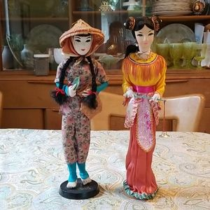 VINTAGE ASIAN Collectable Dolls Figurines